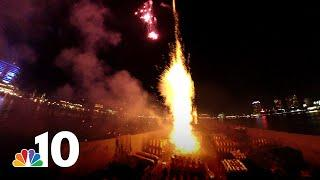 360 View: In the Middle of a Fireworks Show | NBC10 Philadelphia