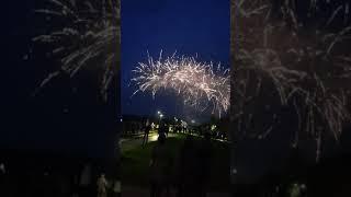 Салюты в честь 9-мая в честь великой победы. Запрудня 09.05.2019