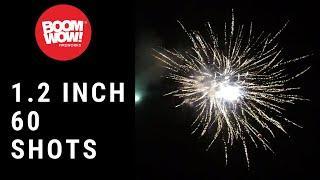 1.2 inch 60 shots finale fireworks boomwow mila 1 2寸60发财气冲天套餐