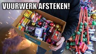 HELE DOOS VUURWERK AFSTEKEN! | STOOKVIDEO