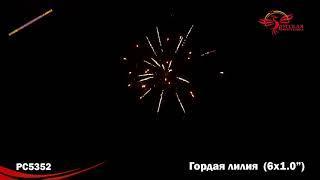 """Римская свеча РС5352 Гордая лилия (1,0""""х6)"""