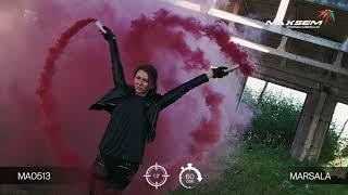 Цветной дым - Maxsem - MA0513 Marsala - бордовый- ручной - время дыма 60 сек. 30 калибр #PYROtehnik