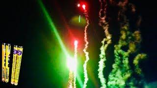 182 Shot Neon Barrage - Roman Candle - Red Apple Fireworks
