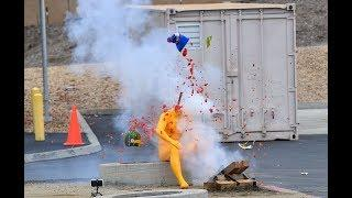 Mannequins pay the price as OCFA demonstrates dangers of illegal fireworks