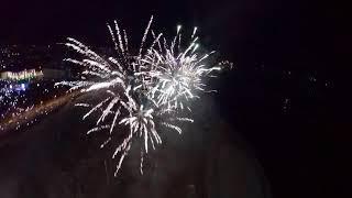 Fireworks filmed with a drone/ Фейрверк в полете на дроне с FPV системой