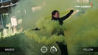 Цветной дым - Maxsem - MA0513 Yellow- желтый- ручной - время дымления 60 сек. 30 калибр #PYROtehnik