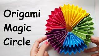 Origami Magic Circle Fireworks | Easy Paper Crafts | Paper DIY Illusions | Infinity Fold Paper Magic