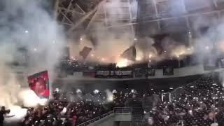 Пиротехника фанатов ЦСКА на дерби против спартака
