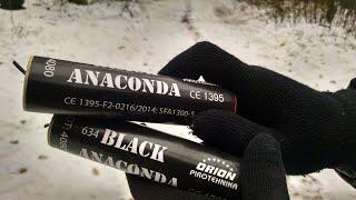 Петарда BLACK ANACONDA - Вы точно такую не ВЗРЫВАЛИ | Самые мощные петарды Блек Анаконда