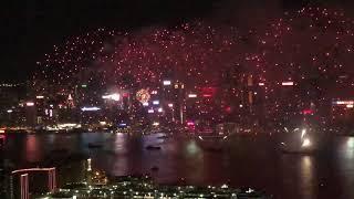 Hong Kong national day Fireworks 2018