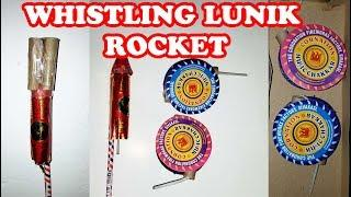 Lunik Rocket with Whistling Chakkars - Experiment with Diwali Fireworks