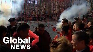 Lunar New Year celebrated with fireworks in New York