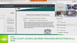 County Council reverses course on fireworks restrictions