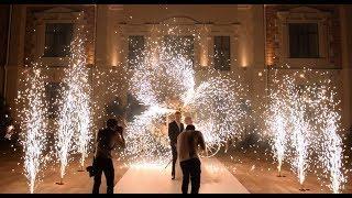 Дорожка фонтанов и вертушка на свадьбу в Ростове | GOF show