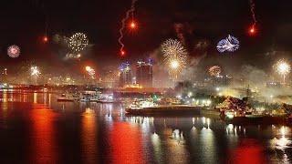 CEBU CITY, PHILIPPINES - NEW YEAR 2019 FIREWORKS