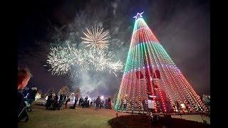 Evans Christmas Tree Lighting and Fireworks show
