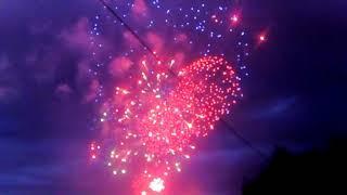 Выбух падчас салюту ў Мінску / Взрыв во время салюта в Минске
