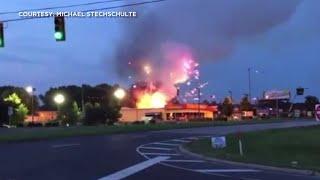 Fire ignites fireworks outside South Carolina store