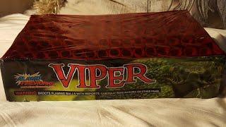 Viper 96 shot cake Alamo fireworks demo