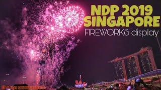 National Day Parade 2019 Fireworks display | Happy 54th Birthday Singapore