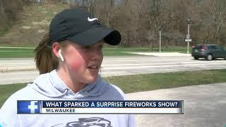 Fireworks show marks a Milwaukee marriage proposal