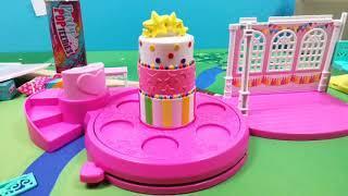 РасКарковка кукол и домика для вечеринок Party PopTeenies