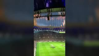 AMAZING FIREWORKS IN THE NEW SPURS STADIUM.