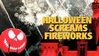 4K Halloween Screams Fireworks | Mickey's Halloween Party | Disneyland