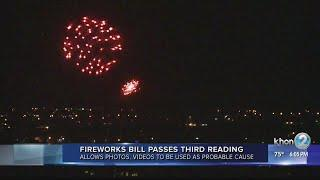 Fireworks bill passes third reading