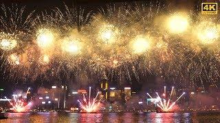 Amazing Fireworks Show in Hong Kong National Day 2018