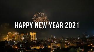 [4K] New Year 2021 Fireworks in Metro Manila, Philippines (View to Rockwell Makati from BGC)