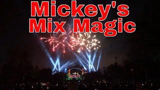 Disneyland Mickey's Mix Magic With Fireworks Show From Main Street Full Show
