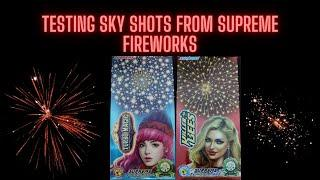 Testing Sky Shots from Supreme Fireworks | 2inch Pipes | Crackers Show Time | CST |