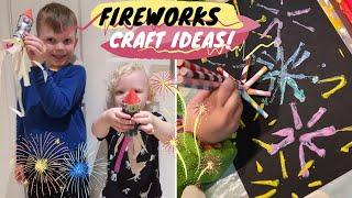 EASY FIREWORKS CRAFT IDEAS FOR TODDLERS & KIDS
