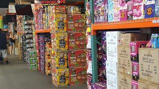 June Boom Sale prices Red Apple Fireworks 2019 store walkthrough