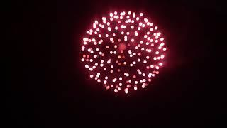 DAEHAN FIREWORKS [SHELL] 6inch Red star to blink to red star