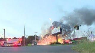 Crews battle huge fire near Fort Mill fireworks store