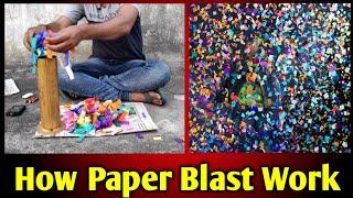 How paper blast work, paper fireworks, paper Crackers, Paper blasting, Remote control fireworks