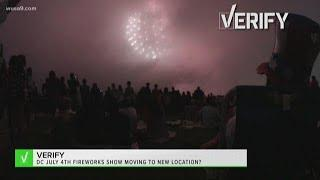 VERIFY: Is DC's annual 4th of July fireworks show being moved from Lincoln Memorial Reflecting Pool?