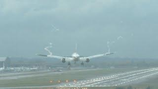 London Heathrow Airport Live Crosswind Landings DISABLED Aircraft, Fireworks, GO AROUNDS