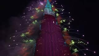 Дубай встречает Новый 2021 год! Салют и лазерное шоу/Dubai welcomes the New Year 2021 Salute