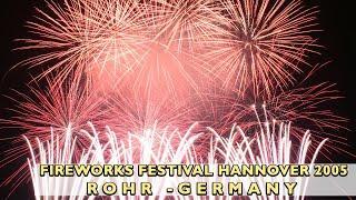 Int. Fireworks Festival Hannover 2005:  Rohr Feuerwerke - Germany  Deutschland - Feuerwerk