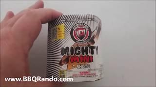 Mighty Mini White 7 Shot - Dominator Fireworks