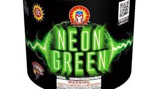10shot 200gram x2, NEON GREEN ( MAGNUS Fireworks)