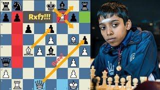 Amazing fireworks by Praggnanandhaa | One of  best chess game of 2018 | Teja Ravi vs Praggnanandhaa