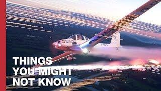 Flying A Plane With Fireworks On The Wings