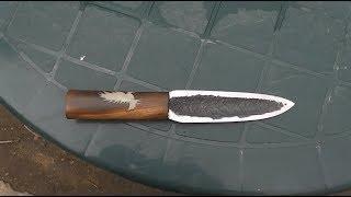 нож подобии якута сделан своими руками