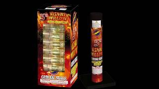 "5"" Nishiki Willow Canister Shells - Flashing Fireworks"