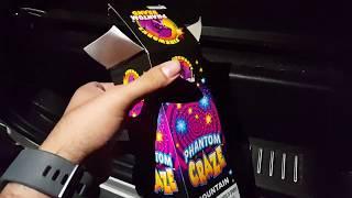 Phantom craze fountain phantom fireworks demo