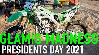 MADNESS From Olds GLAMIS Presidents Day 2021 (Fireworks, Jumps, & Crash) DIRT BIKE DIARIES EP.56